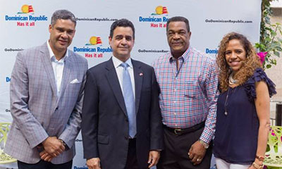 L R Abdalah Castillo Director Dominican Republic Ministry Of Tourism Juan Alsace Consul General US Consulate Toronto