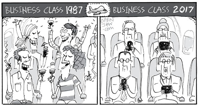 Business Class Then & Now