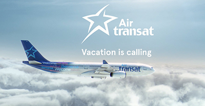 air transat s ad caign calls on canadians open jaw